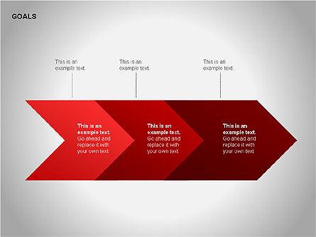 Goals Diagram, Slide 3, 00053, Graph Charts — PoweredTemplate.com