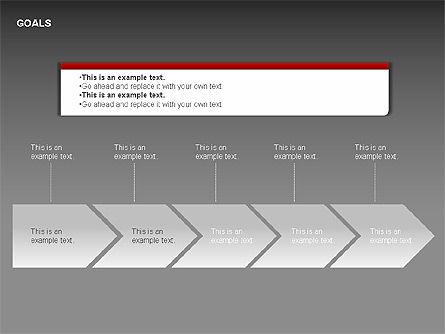 Goals Diagram, Slide 6, 00053, Graph Charts — PoweredTemplate.com