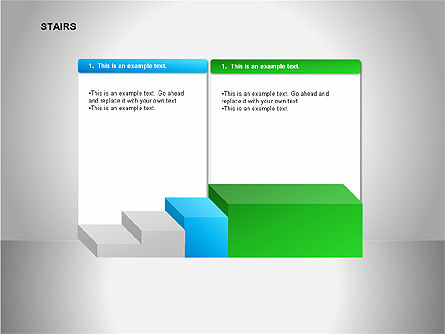 Stairs Diagrams, Slide 11, 00054, Stage Diagrams — PoweredTemplate.com