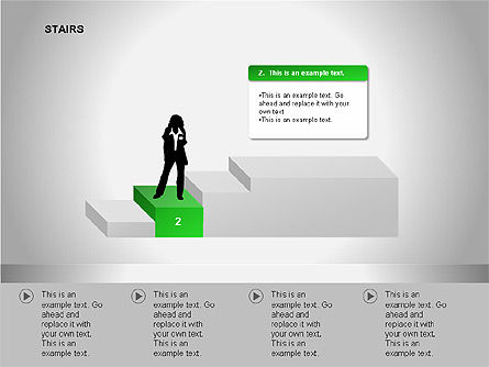 Stairs Diagrams, Slide 6, 00054, Stage Diagrams — PoweredTemplate.com