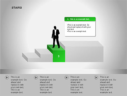Stairs Diagrams, Slide 7, 00054, Stage Diagrams — PoweredTemplate.com
