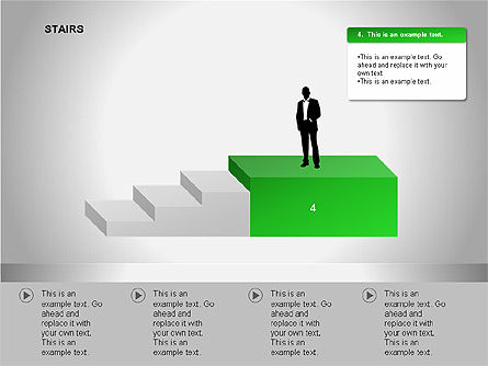Stairs Diagrams, Slide 8, 00054, Stage Diagrams — PoweredTemplate.com