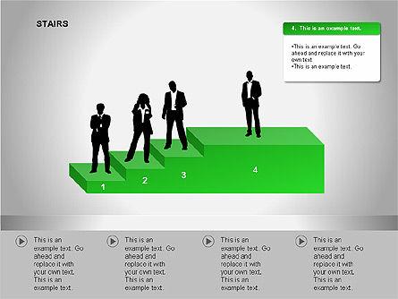 Stairs Diagrams, Slide 9, 00054, Stage Diagrams — PoweredTemplate.com