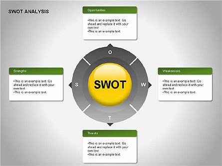 SWOT Analysis Diagram, 00055, Business Models — PoweredTemplate.com