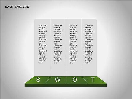 SWOT Analysis Diagram, Slide 13, 00055, Business Models — PoweredTemplate.com