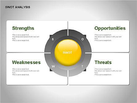 SWOT Analysis Diagram, Slide 2, 00055, Business Models — PoweredTemplate.com