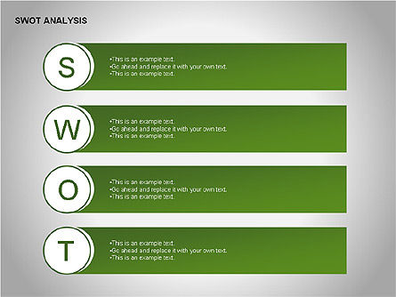 SWOT Analysis Diagram, Slide 3, 00055, Business Models — PoweredTemplate.com