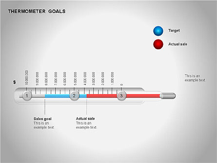 Thermometer Charts, Slide 13, 00058, Timelines & Calendars — PoweredTemplate.com
