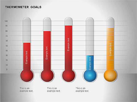 Thermometer Charts, Slide 7, 00058, Timelines & Calendars — PoweredTemplate.com