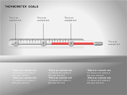 Thermometer Charts, Slide 8, 00058, Timelines & Calendars — PoweredTemplate.com