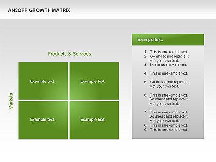 Ansoff Growth Matrix, Slide 11, 00059, Matrix Charts — PoweredTemplate.com