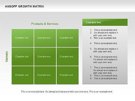 Ansoff Growth Matrix, Slide 12, 00059, Matrix Charts — PoweredTemplate.com