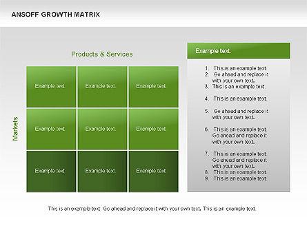 Ansoff Growth Matrix, Slide 13, 00059, Matrix Charts — PoweredTemplate.com