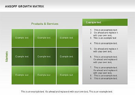 Ansoff Growth Matrix, Slide 14, 00059, Matrix Charts — PoweredTemplate.com