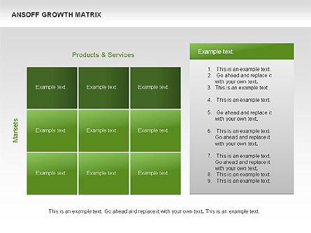 Ansoff Growth Matrix, Slide 15, 00059, Matrix Charts — PoweredTemplate.com