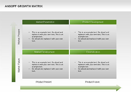 Ansoff Growth Matrix, Slide 2, 00059, Matrix Charts — PoweredTemplate.com