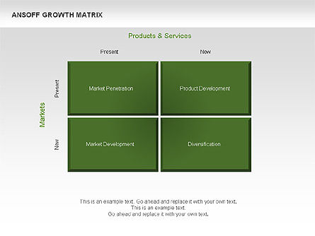 Ansoff Growth Matrix, Slide 3, 00059, Matrix Charts — PoweredTemplate.com