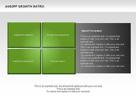 Ansoff Growth Matrix, Slide 5, 00059, Matrix Charts — PoweredTemplate.com