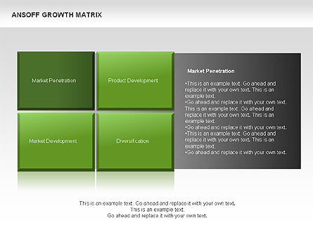 Ansoff Growth Matrix, Slide 6, 00059, Matrix Charts — PoweredTemplate.com