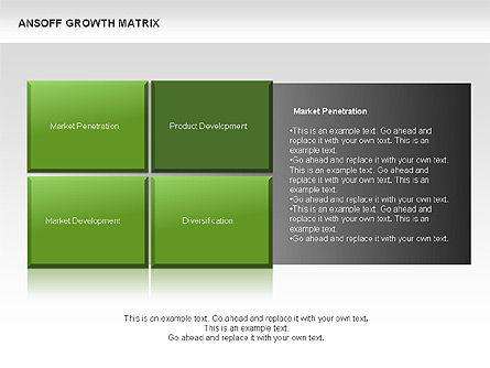 Ansoff Growth Matrix, Slide 8, 00059, Matrix Charts — PoweredTemplate.com