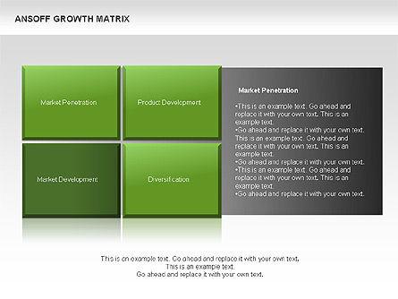 Ansoff Growth Matrix, Slide 9, 00059, Matrix Charts — PoweredTemplate.com