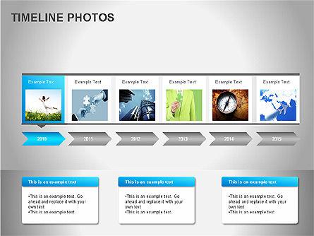 Timeline Photos Diagram, Slide 10, 00061, Timelines & Calendars — PoweredTemplate.com