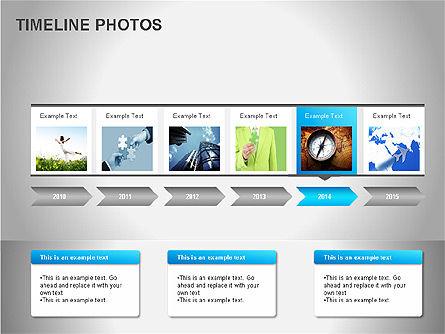 Timeline Photos Diagram, Slide 12, 00061, Timelines & Calendars — PoweredTemplate.com