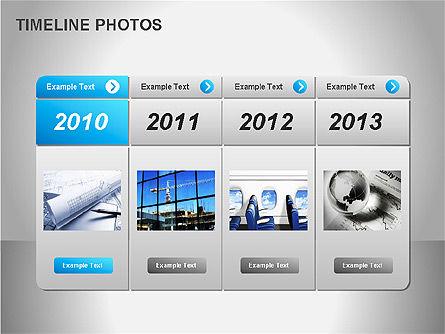 Timeline Photos Diagram, Slide 5, 00061, Timelines & Calendars — PoweredTemplate.com