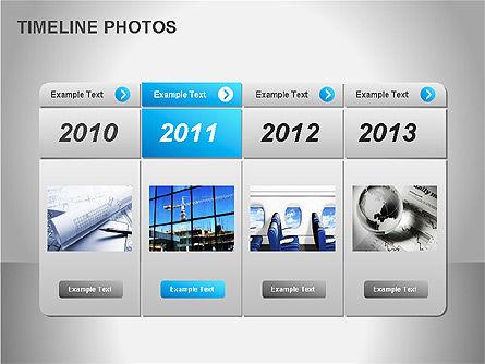 Timeline Photos Diagram, Slide 6, 00061, Timelines & Calendars — PoweredTemplate.com