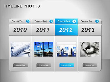Timeline Photos Diagram, Slide 7, 00061, Timelines & Calendars — PoweredTemplate.com