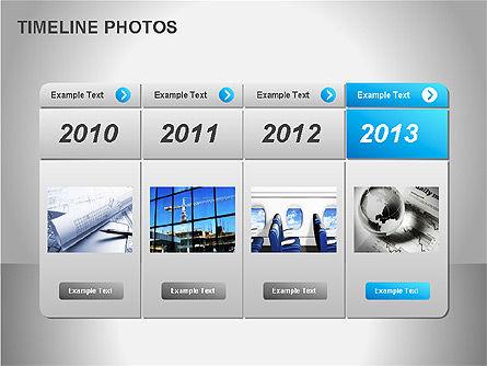 Timeline Photos Diagram, Slide 8, 00061, Timelines & Calendars — PoweredTemplate.com