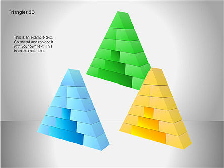 3D Triangle Shapes, Slide 10, 00063, Shapes — PoweredTemplate.com