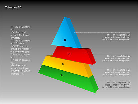 3D Triangle Shapes, Slide 11, 00063, Shapes — PoweredTemplate.com
