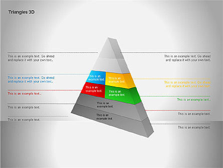 3D Triangle Shapes, Slide 12, 00063, Shapes — PoweredTemplate.com