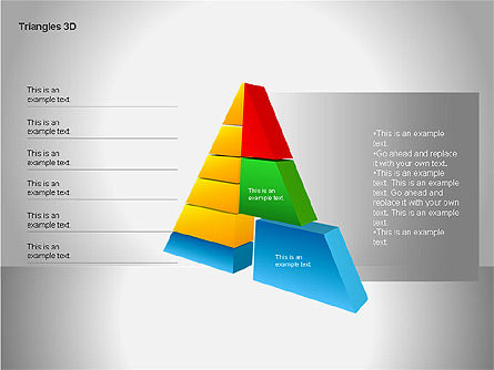 3D Triangle Shapes, Slide 13, 00063, Shapes — PoweredTemplate.com