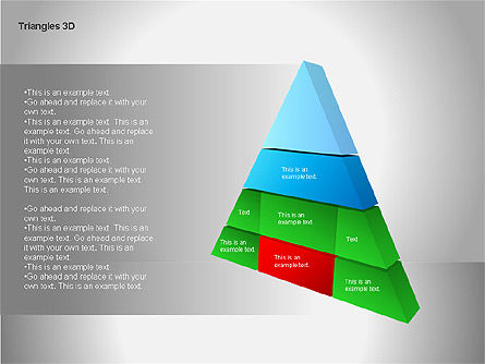 3D Triangle Shapes, Slide 14, 00063, Shapes — PoweredTemplate.com