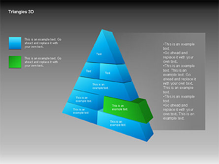 3D Triangle Shapes, Slide 15, 00063, Shapes — PoweredTemplate.com