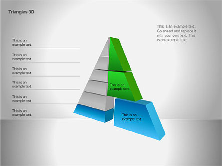 3D Triangle Shapes, Slide 2, 00063, Shapes — PoweredTemplate.com