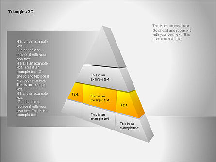 3D Triangle Shapes, Slide 3, 00063, Shapes — PoweredTemplate.com