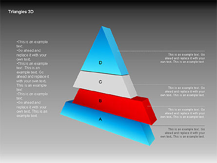 3D Triangle Shapes, Slide 4, 00063, Shapes — PoweredTemplate.com