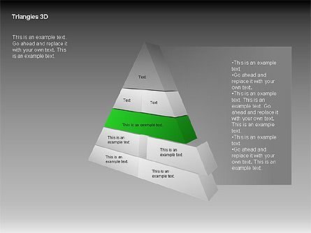 3D Triangle Shapes, Slide 6, 00063, Shapes — PoweredTemplate.com