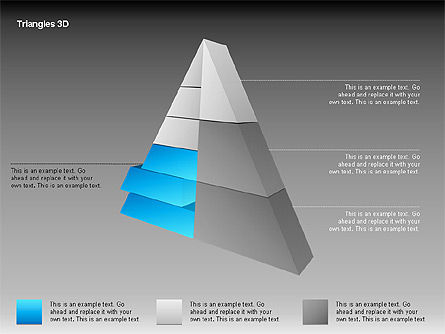3D Triangle Shapes, Slide 7, 00063, Shapes — PoweredTemplate.com