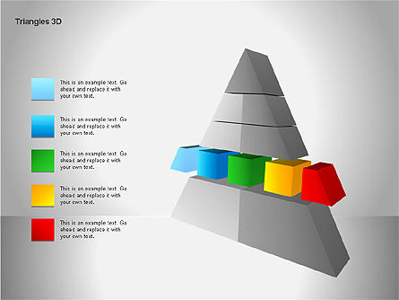 3D Triangle Shapes, Slide 8, 00063, Shapes — PoweredTemplate.com