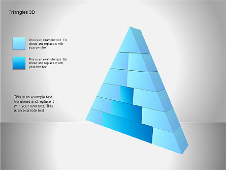 3D Triangle Shapes, Slide 9, 00063, Shapes — PoweredTemplate.com