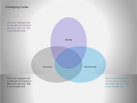 Overlapping Circles Diagrams, Slide 10, 00064, Business Models — PoweredTemplate.com