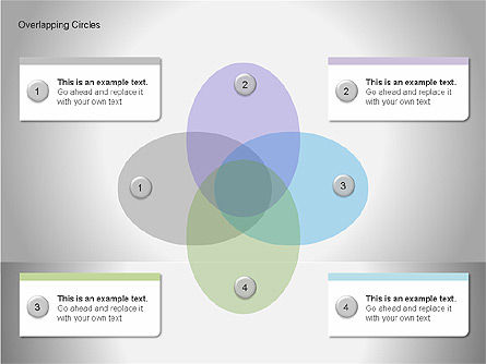 Overlapping Circles Diagrams, Slide 15, 00064, Business Models — PoweredTemplate.com