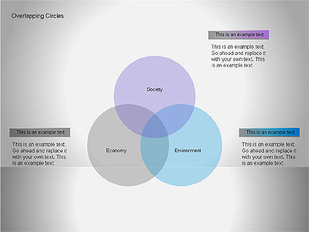 Overlapping Circles Diagrams, Slide 3, 00064, Business Models — PoweredTemplate.com