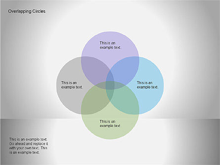 Overlapping Circles Diagrams, Slide 4, 00064, Business Models — PoweredTemplate.com