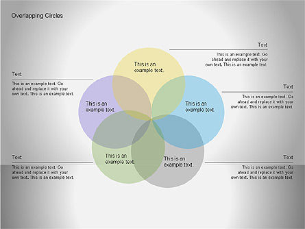Overlapping Circles Diagrams, Slide 5, 00064, Business Models — PoweredTemplate.com
