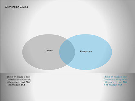 Overlapping Circles Diagrams, Slide 8, 00064, Business Models — PoweredTemplate.com